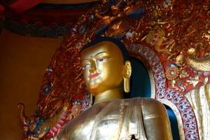 Buddha statue at Norbulingka