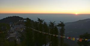 Namgal Monastery at sunset