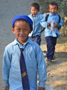 Nepali school boys