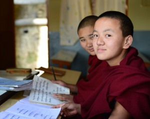 Nuns studying
