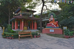 prayer wheel & Nagarjuna statue