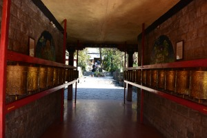 prayer wheels at Norbulingka