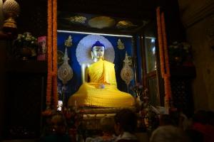 Shakyamuni Buddha statue inside stupa