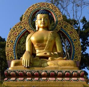 Shakyamuni Buddha at Swayambunath Stupa