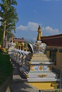 stupas at Kopan
