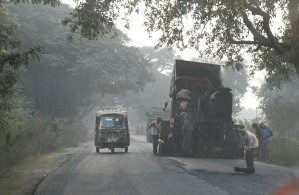 they do pave some of the roads in India (notice any cones?)
