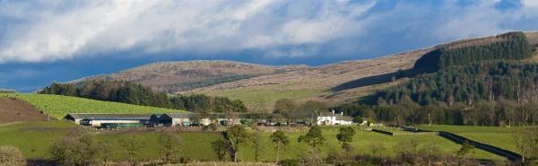 The main farm house across the valley