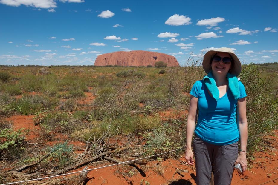 Rebecca and Uluru