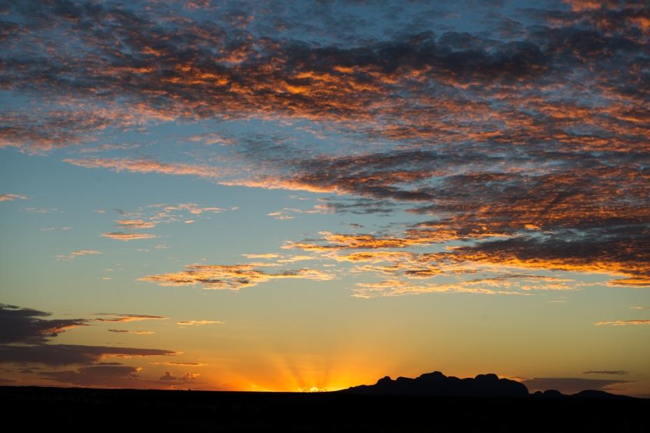 Kata Juta at sunset from near Uluru