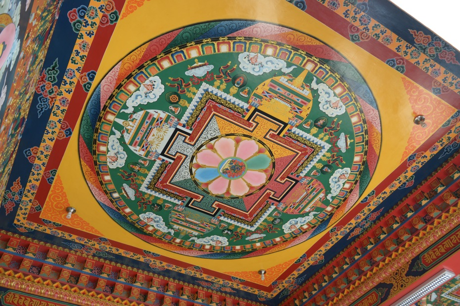 mandala-on-ceiling