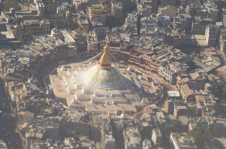 Boudhanath Stupa from above